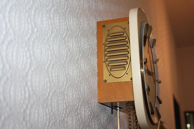 originale alte junghansuhr wanduhr uhr pendeluhr gong. Black Bedroom Furniture Sets. Home Design Ideas