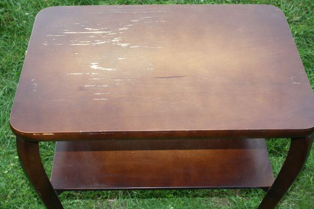 alter kleiner tisch beistelltisch zum restaurieren shabby chic ebay. Black Bedroom Furniture Sets. Home Design Ideas